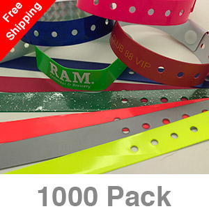 1000 Custom Plastic Wristbands