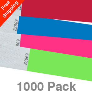 1000 Plain Tyvek Wristbands