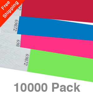 10000 Plain Tyvek Wristbands