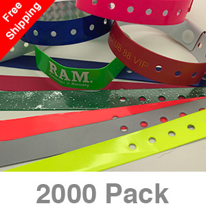 2000 Custom Plastic Wristbands