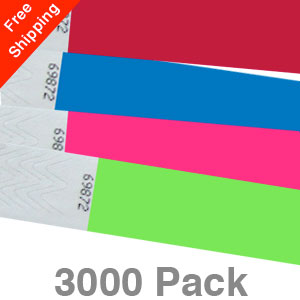 3000 Plain Tyvek Wristbands