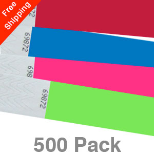 500 Plain Tyvek Wristbands