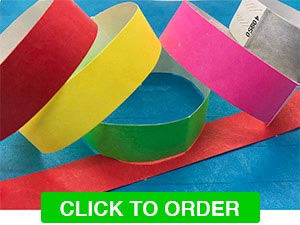 Plain Tyvek Wristbands