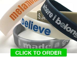 Infilled Silicone Wristbands